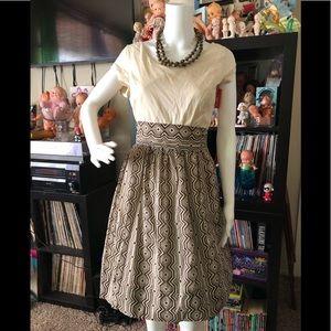 Isaac Mizrahi dress size 8 geometric pattern
